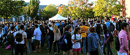 The Annual Tufts Activities Fair