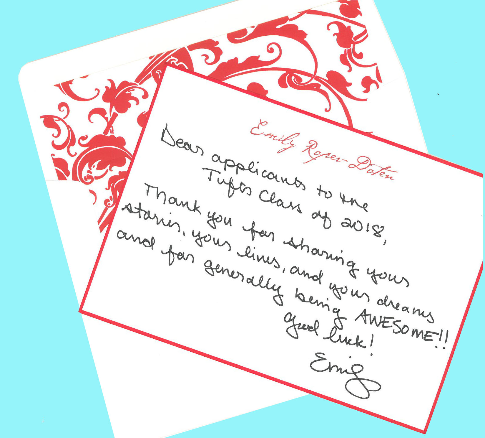 how to write a thank you letter college admissions officer sample the emily in bubble letters picture