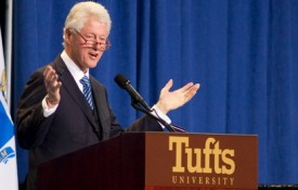 Image: The former president spoke to approximately 6,000 people in the Tufts Gantcher Center on November 6th.